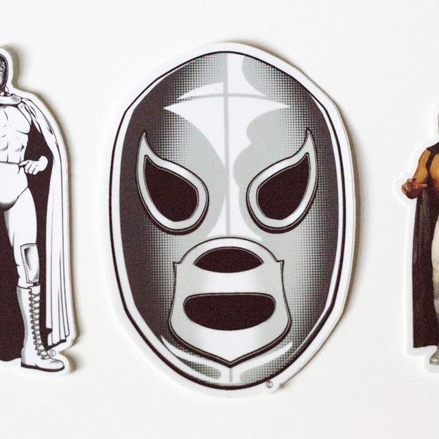 El Hijo del Santo Santo Set of 3 Stickers