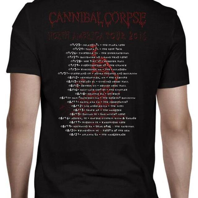Cannibal Corpse Skeletal Summer Tour 2016 T-Shirt