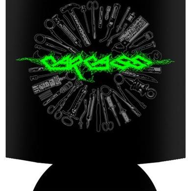 Carcass Green Logo Koozie