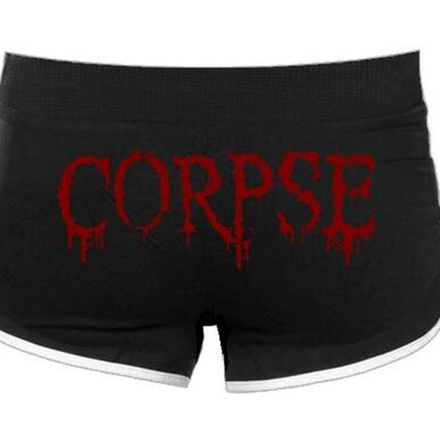 Cannibal Corpse Corpse Logo Girl Running Shorts