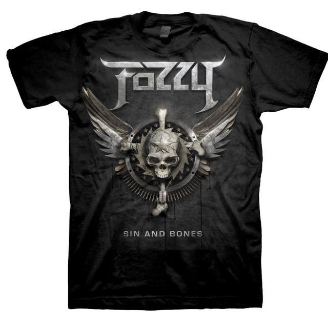 Fozzy Sin & Bones 2012 Tour Dates T-Shirt