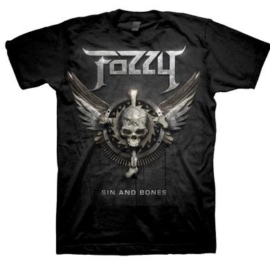 Fozzy Sin & Bones 2012 Tour Dates T-Shirt
