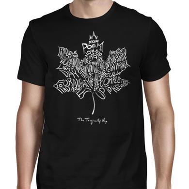 The Tragically Hip Man Machine Poem Leaf T-Shirt