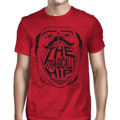The Tragically Hip 2016 Face 3 Tee on Red Heather