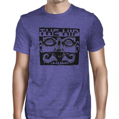 The Tragically Hip Face 2 Tee on Purple Heather