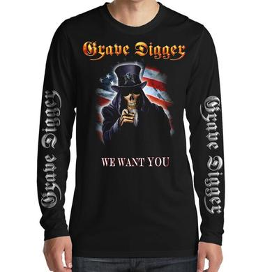 Grave Digger Uncle Sam 2016 Dates Long Sleeve Tee