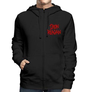 Iron Reagan Red Logo Zip Hoodie