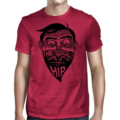 The Tragically Hip Face Tee with Bandanna on Red