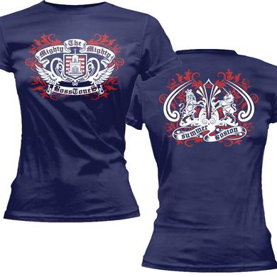 Mighty Mighty Bosstones Blue with Red Crest Ladies Tee