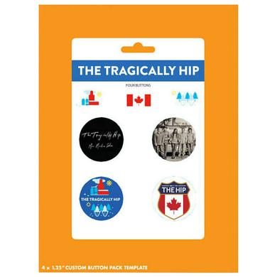 The Tragically Hip Man Machine Poem 4 Button Pack