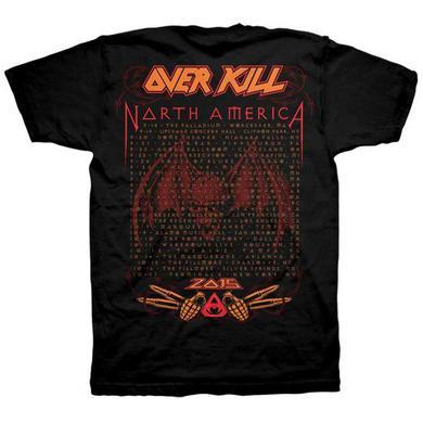 Overkill Cleveland Mosh 2015 Dates T-Shirt