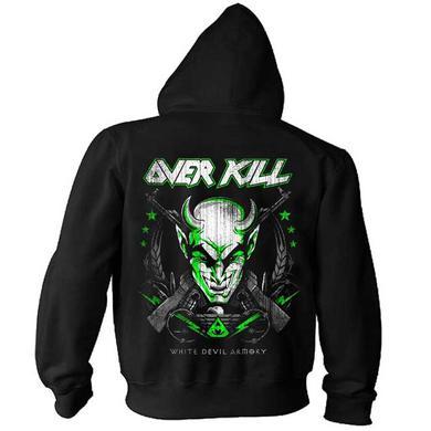Overkill Logo White Devil Zip Hoodie