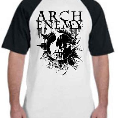 Arch Enemy Black Skull Ring Tour Baseball T