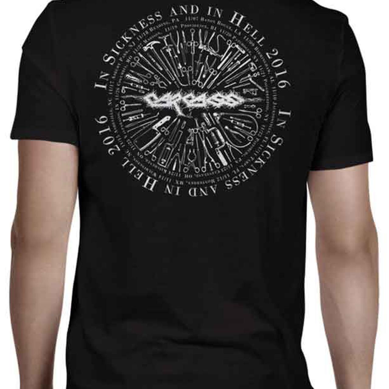 Carcass Anatomy Head Tools 2016 Tour T-Shirt