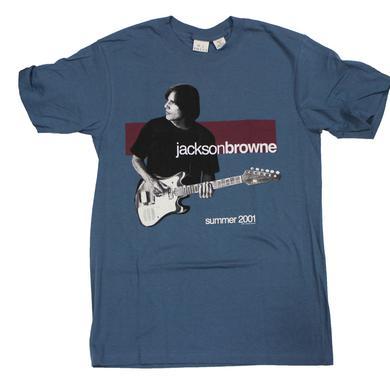 Jackson Browne US Summer 2001 Grey and Maroon Tour Shirt