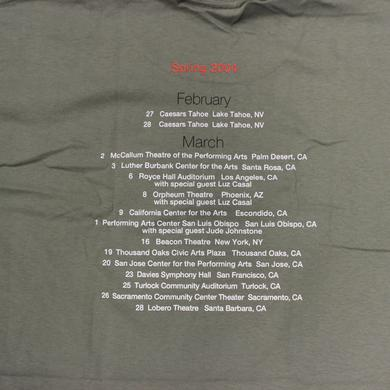 Jackson Browne Spring 2004 Tour shirt