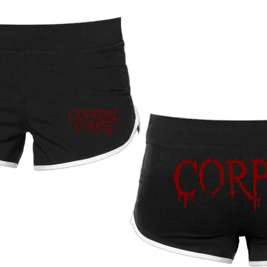 Cannibal Corpse Logo Corpse Girl Running Shorts