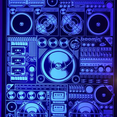 "Dirty Donny ""Boomin"" Boom Box Print Poster (White Stock)"