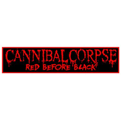 Cannibal Corpse Red Before Black Rectangle Logo Patch