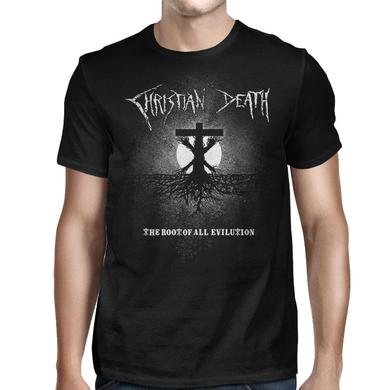 Christian Death The Root of All Evilution Cross T-shirt