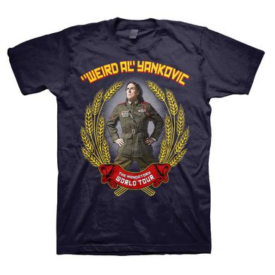 Weird Al Yankovic Mandatory Wheat Back Dates Navy T-shirt