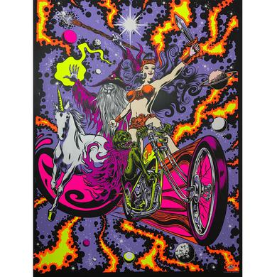 Dirty Donny Black Light Rebellion White Stock Poster