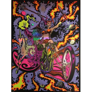 Dirty Donny Black Light Rebellion Metallic Chrome Poster