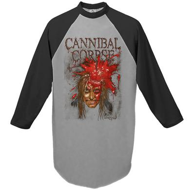 Cannibal Corpse Impact Spatter Raglan Grey