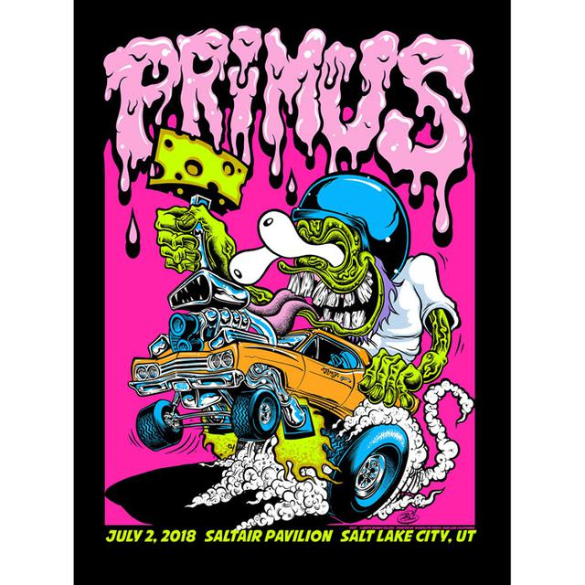 Dirty Donny Official Primus Screen Print Signed And Numbered Black Light Poster.