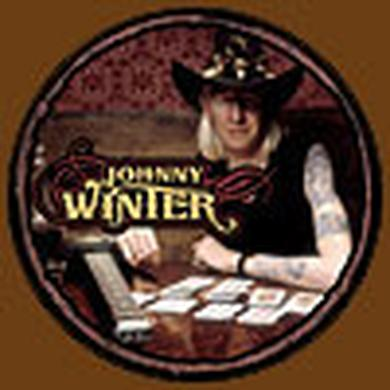 Johnny Winter Photo Button