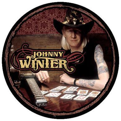 Johnny Winter Photo Button