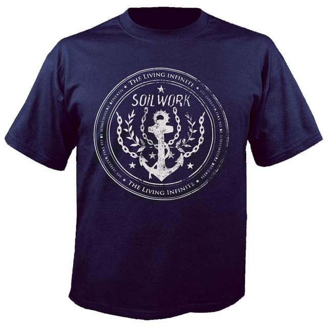 Soilwork The Living Infinite Anchor Blue T-Shirt