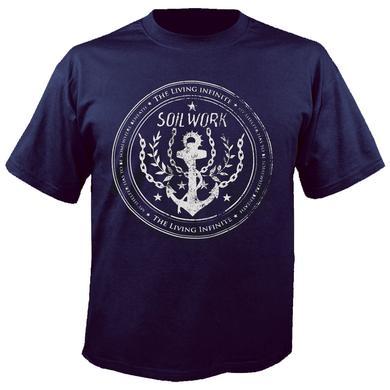 Soilwork The Living Infinite Anchor Blue T-Shirt