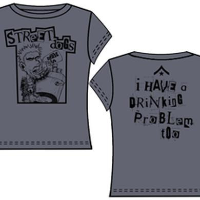 Street Dogs Drinking Problem Dark Grey Ladies Tee