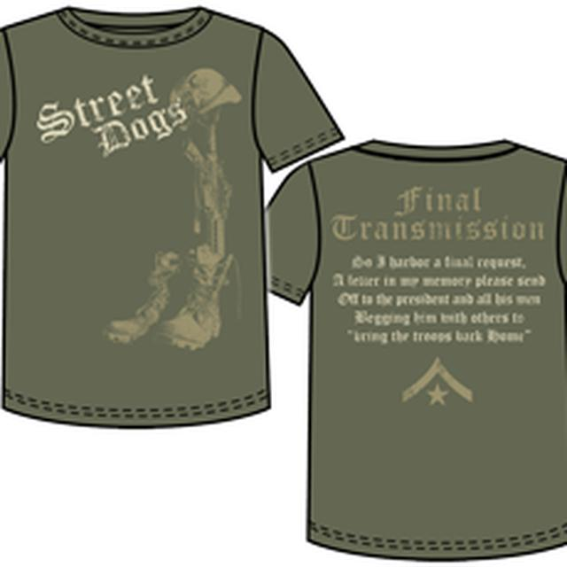 Street Dogs Army Boots Military Green Tee