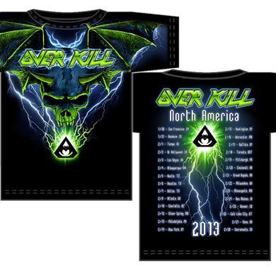 Overkill Allover Blue Batwing Skull
