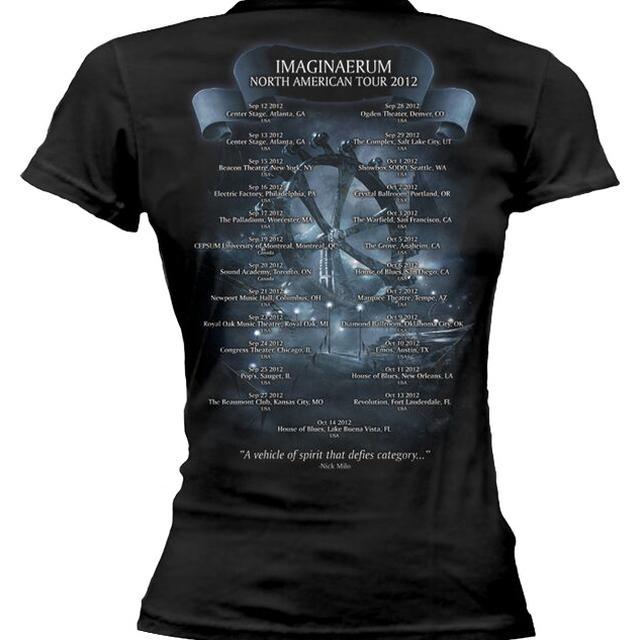 Nightwish Imaginaerum Tour Dates 2013 Ladies tee