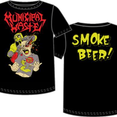 Municipal Waste Smoke Beer TShirt