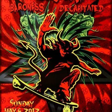 MESHUGGAH Fillmore Poster