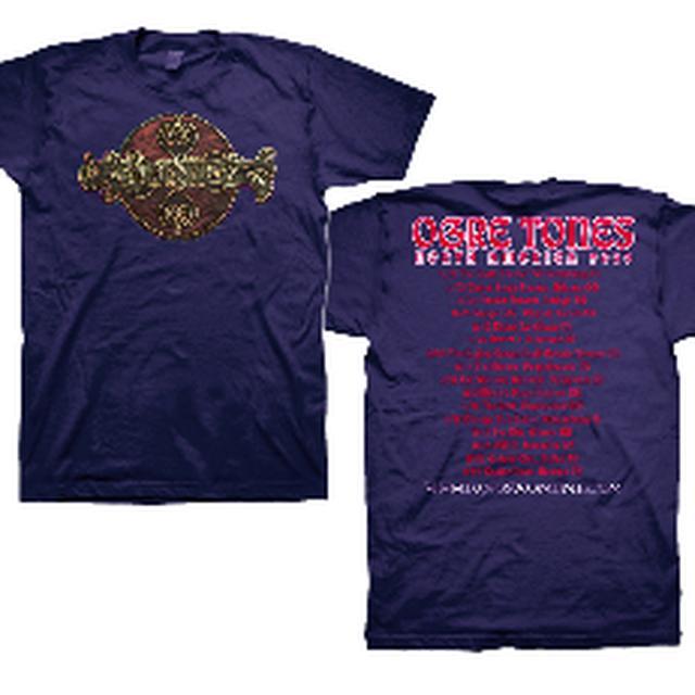 Kings X Wood Grain Logo Navy T-Shirt