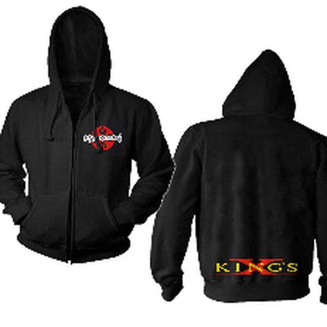 Kings X Pocket Print Logo Zip Hoodie