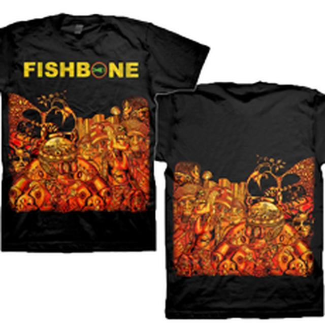 Fishbone Crazy Glue Allover Print T-Shirt