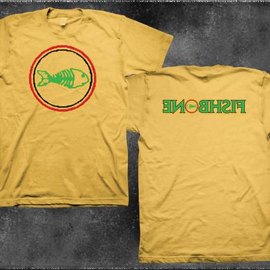 Fishbone Classic Logo Backwards Name Yellow Shirt