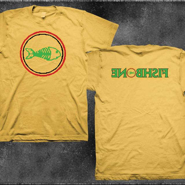 Fishbone Classic Logo Backwards Name Yellow Shirt