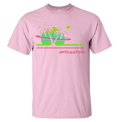 Awolnation Space Waves Pink Tee