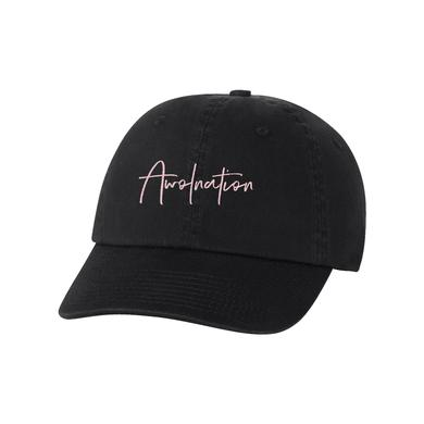 Awolnation Pink Embroider Script Hat