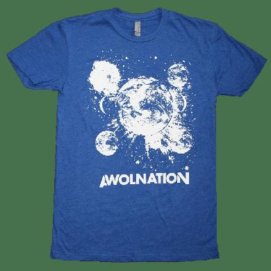 Awolnation Space Tee Blue