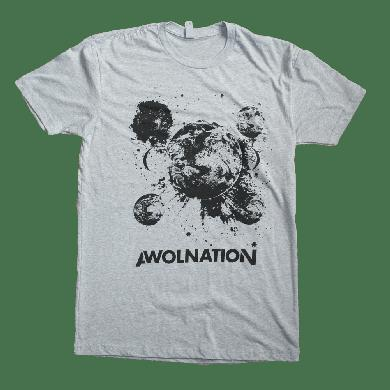 Awolnation Gray Inverted Space Tee