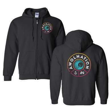 Awolnation Wave Crest  Zip Hoodie