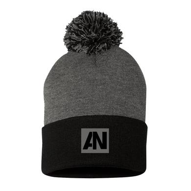 Awolnation Gray Black Pom Beanie